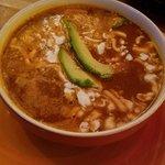 Bowl of tortilla soup.