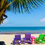 Colorful lounge chairs