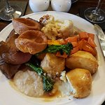 Gluten Free Sunday lunch, (attacked before i remembered to take pic)