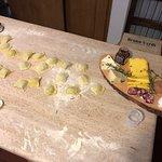 self-made ravioli and aperitivo