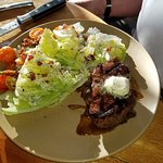 Steak and wedge. Simple idea with great flavor