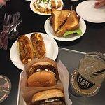 lamp burgers, chorizo jalepeño egg rolls, BLT and loaded tator tots
