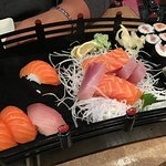 Boat for two! Sushi, sashimi, California roll and Makis!
