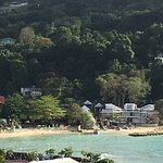 Beach area at Island Village
