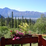 Matanuska Glacier View from Berries and Blossoms Suite porch landing
