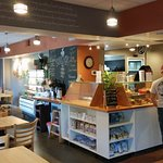 The cafe, tucked into the charming Tuscany-Canterbury neighborhood, is bright, warm and welcomin