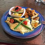 Tomato, Asparagus, cheese omelette