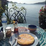 best pancake ever in a stunning setting