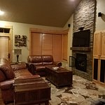 The living area of the two bedroom cabin!!