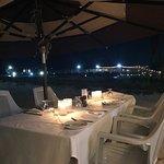 The tables on the beach!