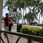 View from Waikiki McDonald's outdoor seating area