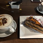 Soya Cappuccino and Chocolate Orange Cake