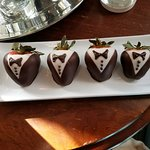 Chocolate Strawberries upon arrival