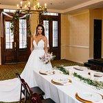 Bride in Jamestown room