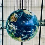 The earth model spinning from the ceiling. amazing to look at.