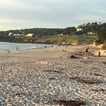 The beach with Pebble Beach golf course to your right!