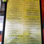 Extensive menu