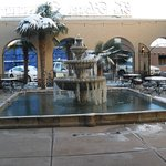 Hotel Paisano entrance and fountain