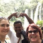 Guide Sean vising the beautiful Kulen water with friends from the USA.