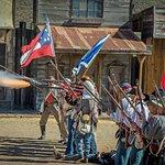 A great civil war re-enactment.