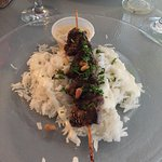 Skewer on rice