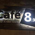 Cafe 8.98 at Krabi Town light box