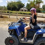 My wife enjoying the ride