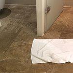 Wet floor in bathroom