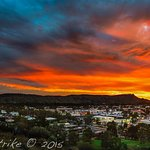 Alice Springs at sunset