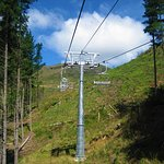 The chairlift (and bike lift) to get up to the start of the zip line