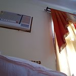 Window AC and typical curtains