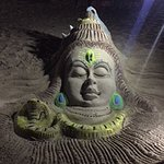 An sand artists creation ,it was monday so he crafted Lord Shiva.
