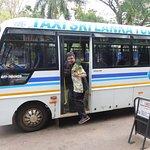 Our minibus and guide Prasana