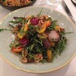 Heirloom carrot & whipped feta salad, rocket, radish, walnuts
