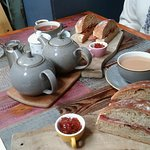 Bacon Sarnieand a Pot of Tea.