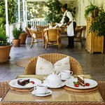 Enjoy your welcome drink or a snack on this beautiful veranda.