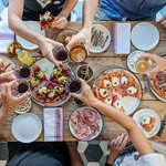 Our pizza is cut into 8 slices so its easy to share with friends.