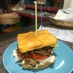 Our new tofu burger