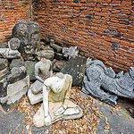 Old Buddha images.