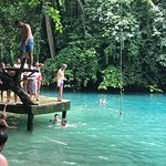Jumping into the Blue Hole
