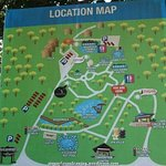 Big location map within the park