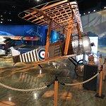 nice display showing wood construction on bi-plane wing