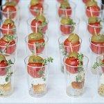 Σφηνάκι σαλάτα για μπουφέ