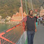 standing on Lakshman JHULA