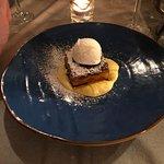 Caramelised Apple Pie, with Cream and Ice Cream