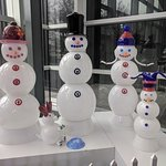 cool snowman all made out of glass