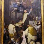 Adorazione di San Gregorio-Tela di P.Ligari