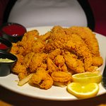 Salute, Gulfport, MS - Bar Area - Fried Seafood Platter