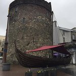 tower exterior with viking ship out front!