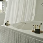 King Balcony Room bathroom and spacious tub